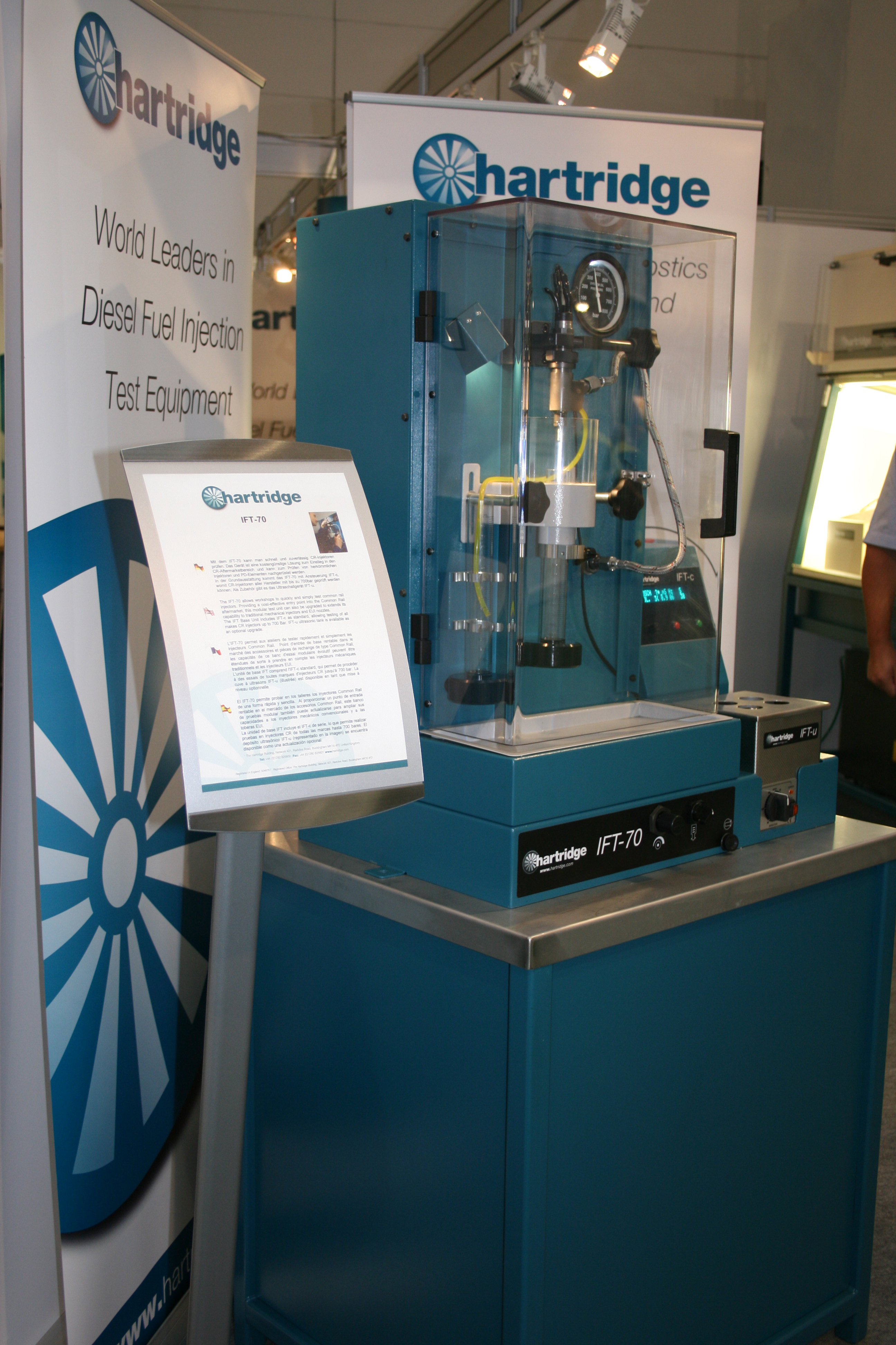 Image of the IFT-70 at the Frankfurt exhibition