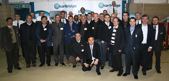 Group photo at the distributor event 2009, back at the Hartridge building