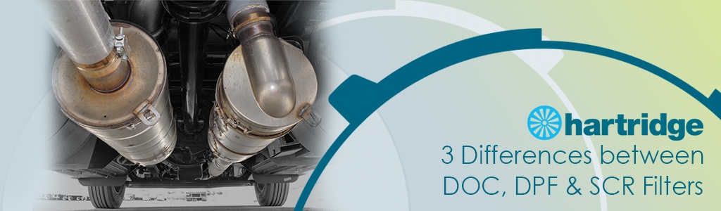 Differences between DOC, DPF, and SCR filters