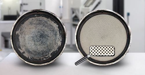 Diesel particulate Filter Dirty & Clean