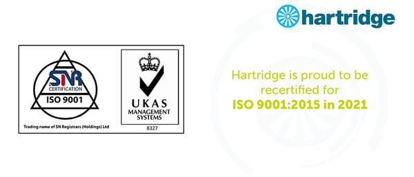 ISO 9001:2015 awarded 2021