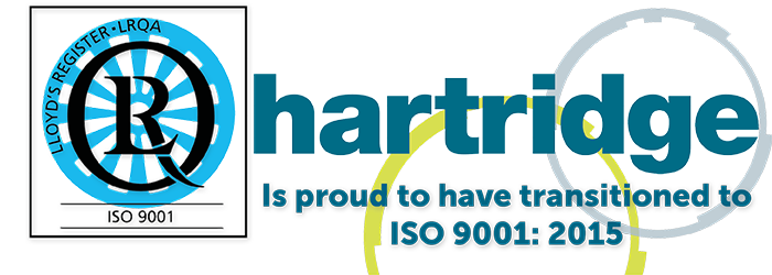 Hartridge is ISO 9001:2015 certified