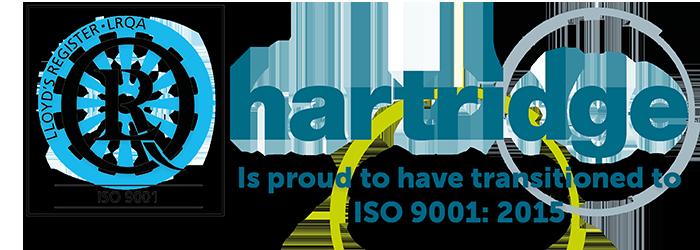 Hartridge is ISO 9001:2015 certified