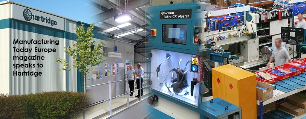 Hartridge in Manufacturing Today Europe Magazine