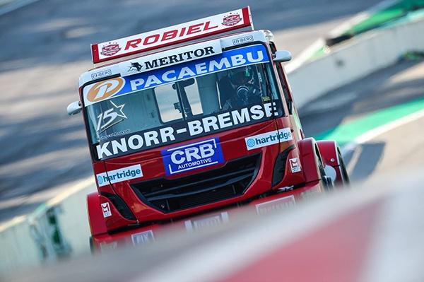 Hartridge logo on racing truck