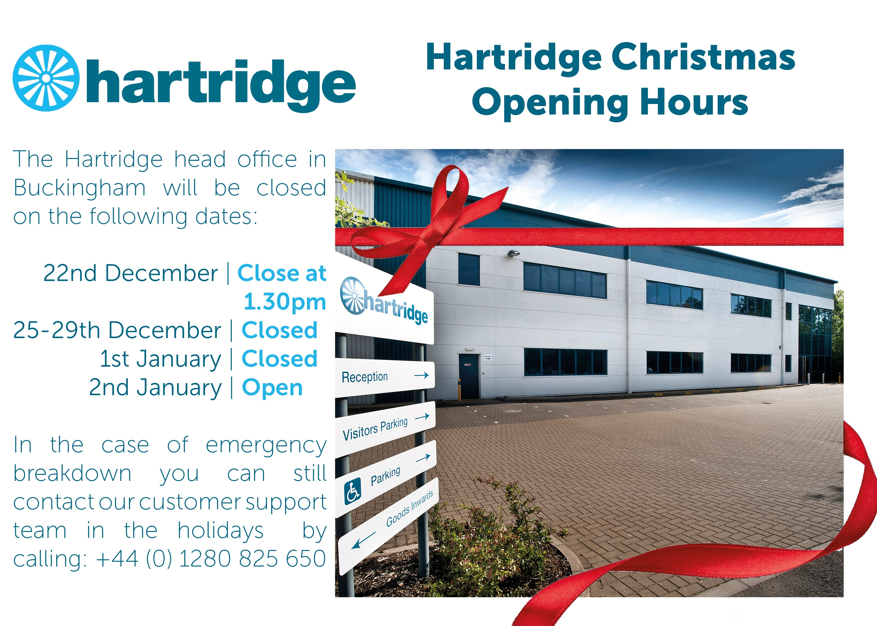 Hartridge Christmas Opening Hours